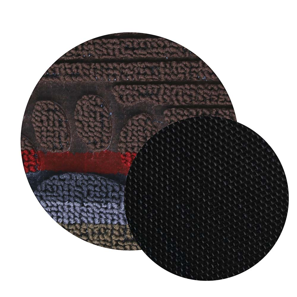 VETTA Коврик придверный, ворсовый с резиновой каймой, 38x58см, яркая полоска
