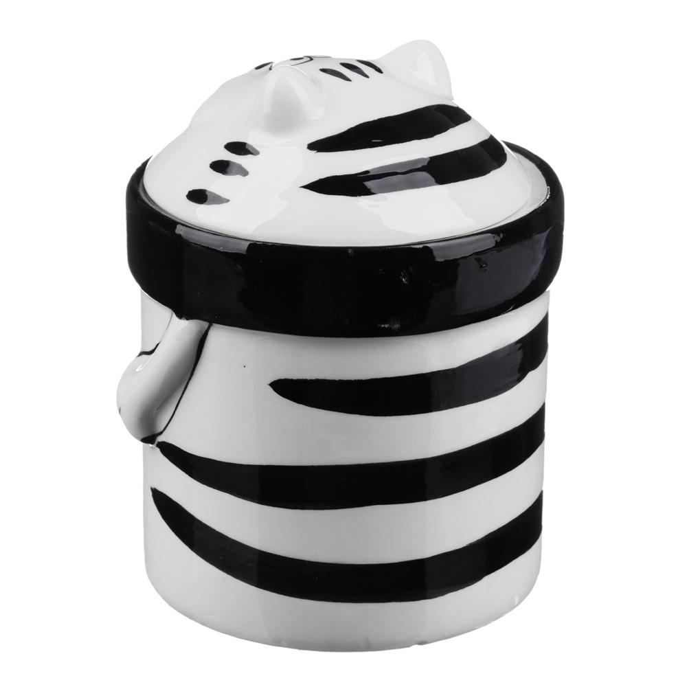 MILLIMI Милый котик Банка для сыпучих продуктов, 390мл, керамика
