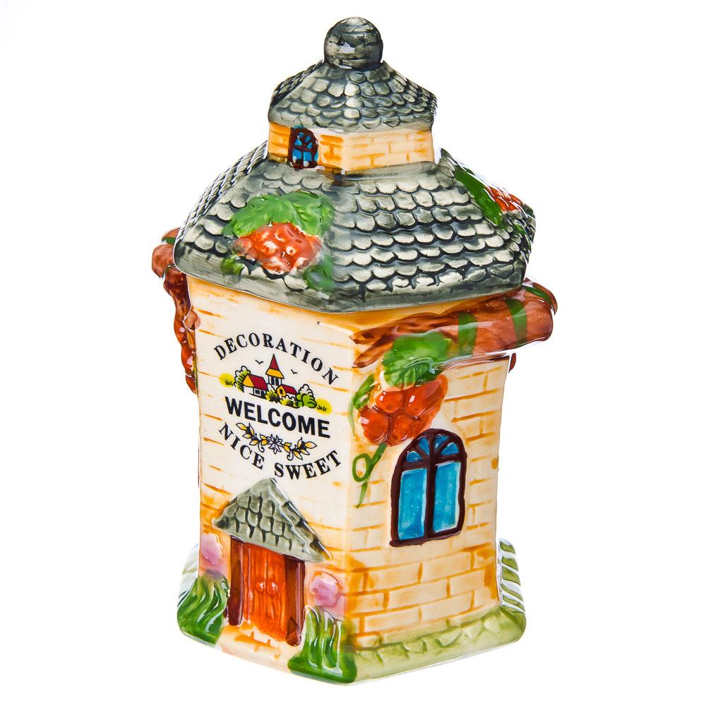 """Домики Банка для сыпучих продуктов, керамика, 600мл, """"Сказочная башенка"""""""