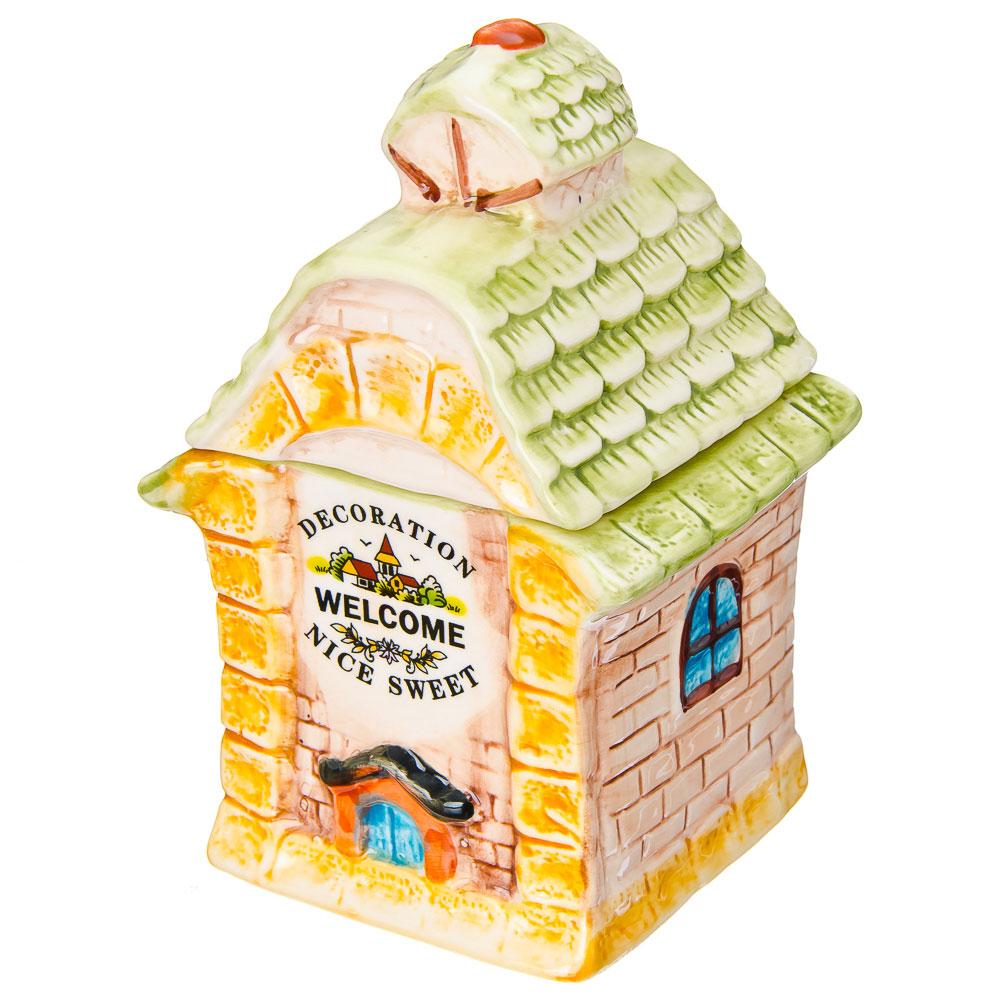 """Домики Банка для сыпучих продуктов, керамика, 300мл, """"Лесная башенка"""""""