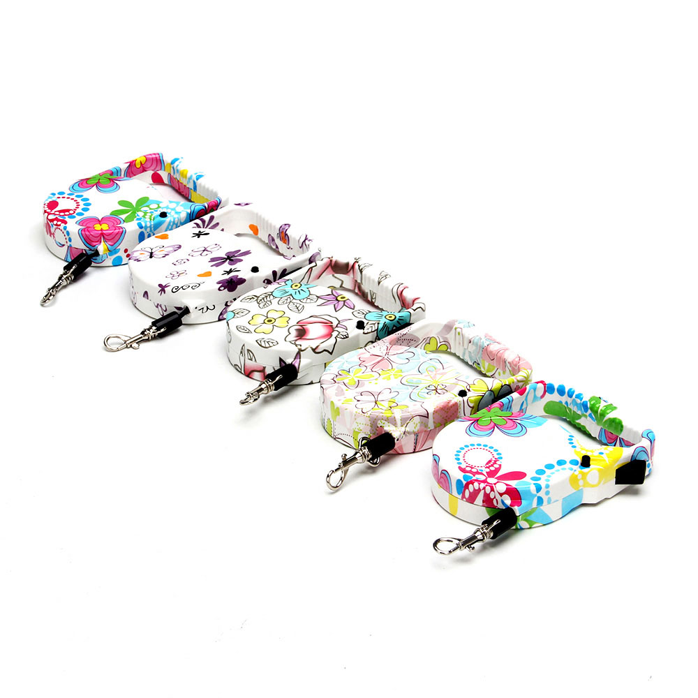 Поводок-рулетка телескопический, пластик, текстиль, 3 м, 5 цветов