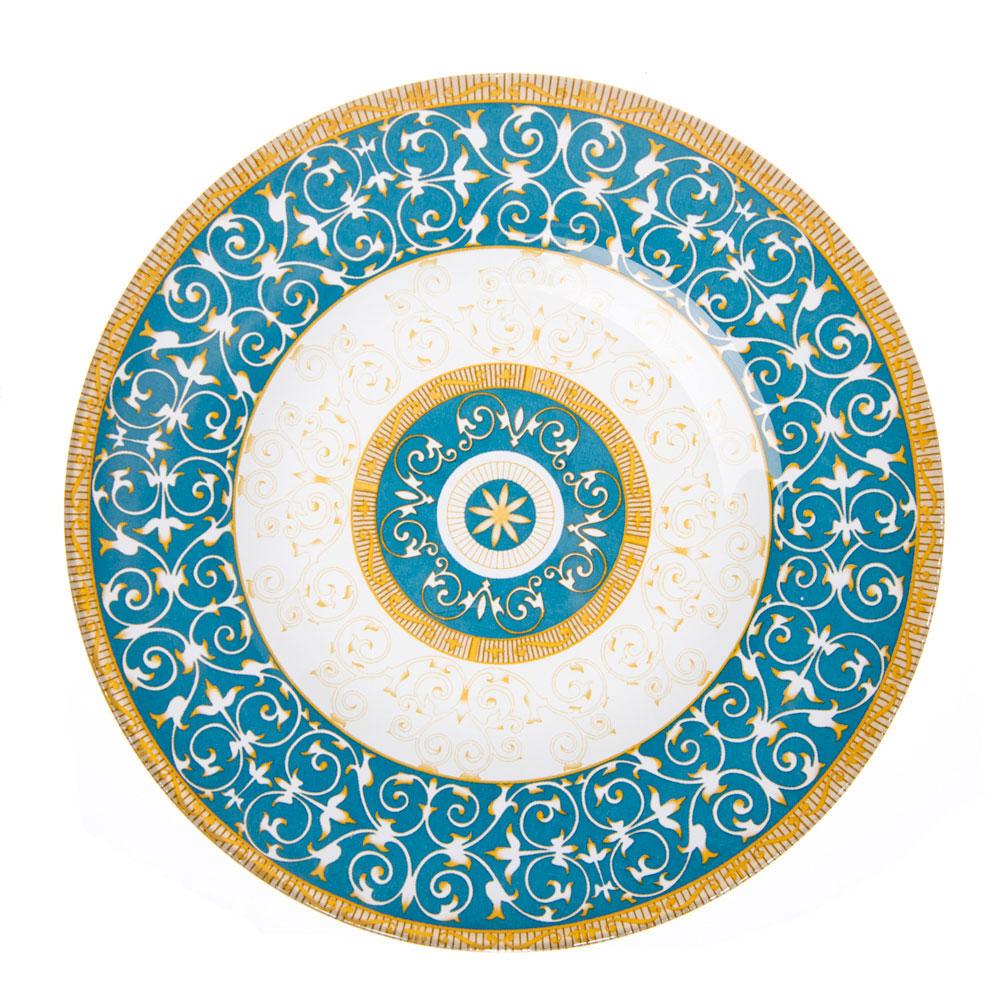 VETTA Орнамент Тарелка десертная стекло 200мм, S3008