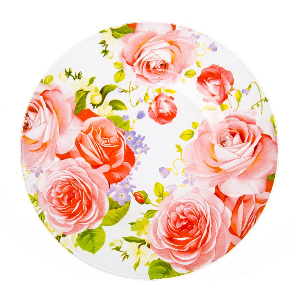 VETTA Летний сад Тарелка десертная стекло 200мм, S3008