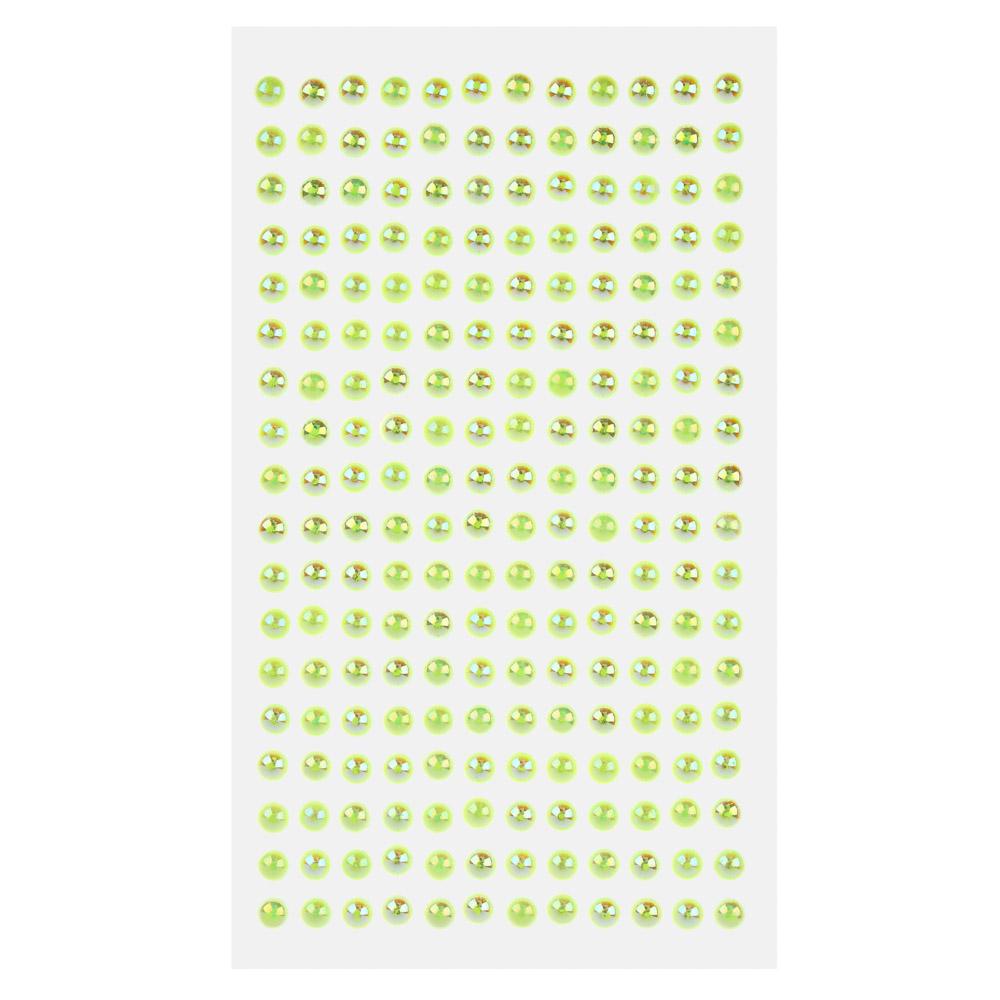 """Наклейка декоративная """"Волшебные жемчужинки 0,7"""", пластик, 22,5х10см, 6-7 цветов"""