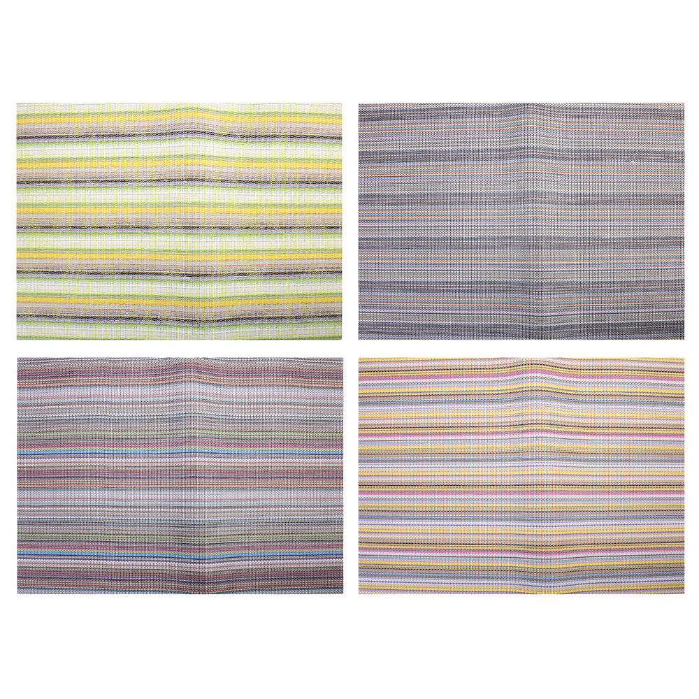 """Салфетка плетеная ПВХ, 30х45см, """"Полосы"""", 4 цвета"""
