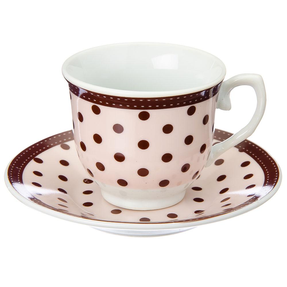 Набор чайный 12 пр., 90мл, фрф, 3 цвета, в подар.уп., арт. NP-2005.6