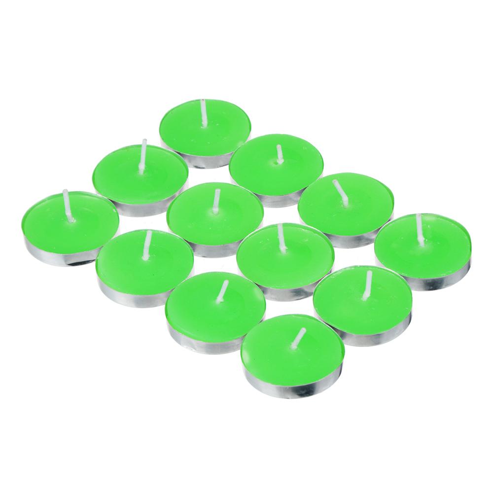 Набор ароматизированных свечей в капсулах 12шт, металл, парафин