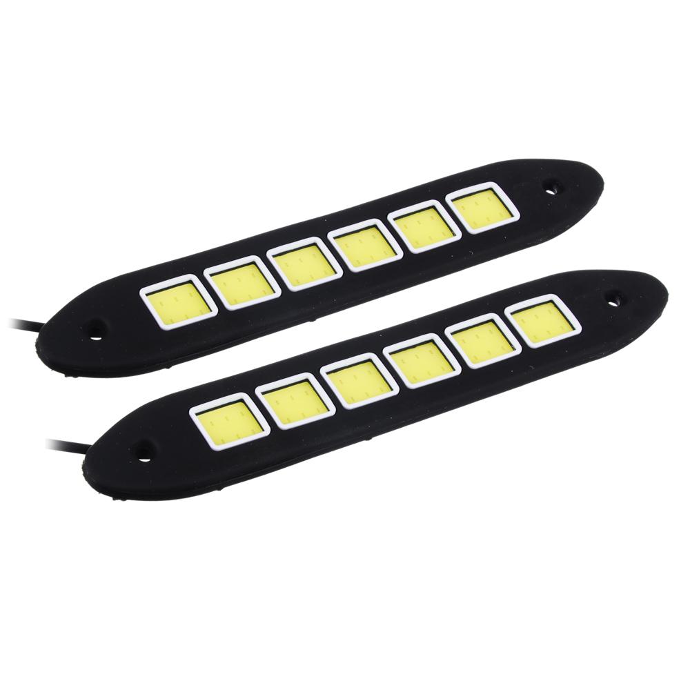 Дневные ходовые огни NEW GALAXY, LED 36шт, гибкий резин. корп., 180мм, 12V, белый, 2шт.