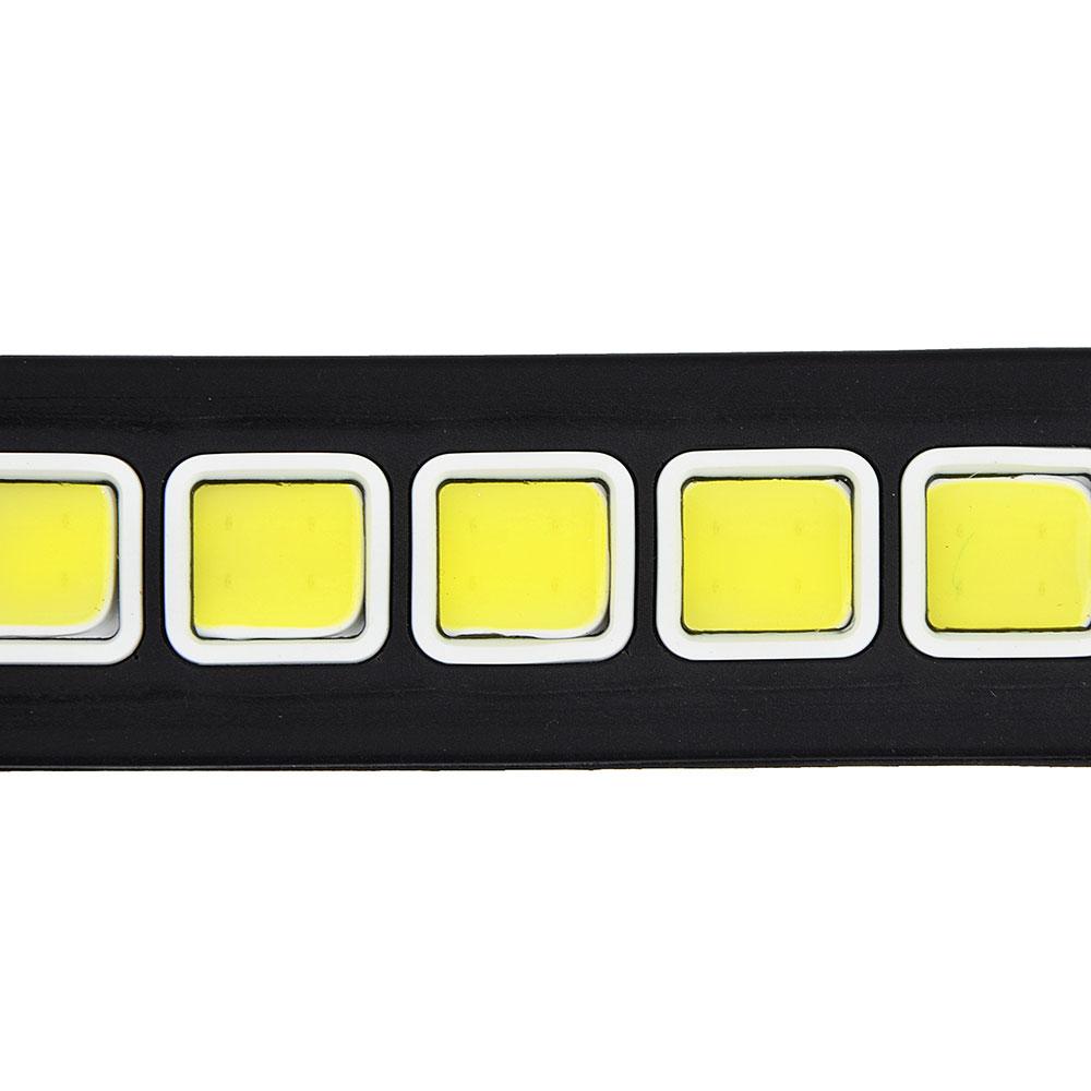 NEW GALAXY Дневные ходовые огни, LED 40шт, гибкий резин. корп., 260мм, 12V, белый, 2шт.