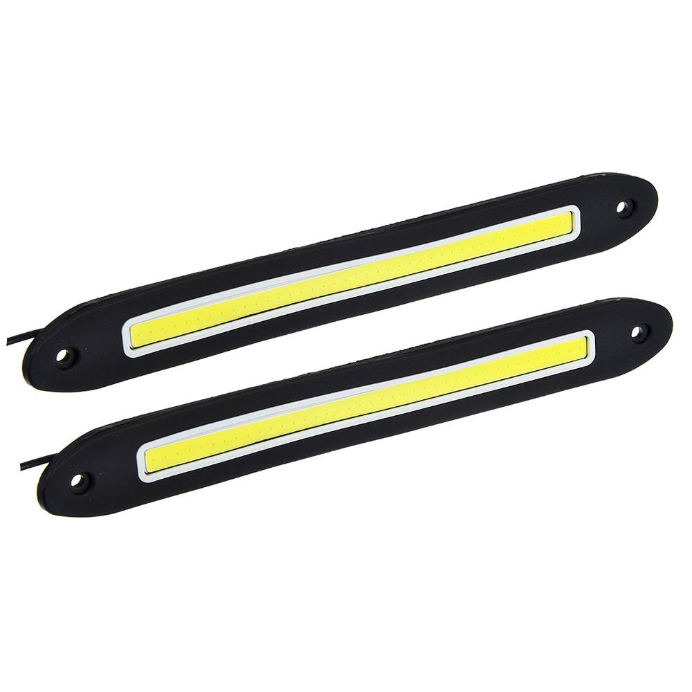 Дневные ходовые огни NEW GALAXY, LED 80шт, гибкий резин. корп., 255мм, 12V, белый, 2шт