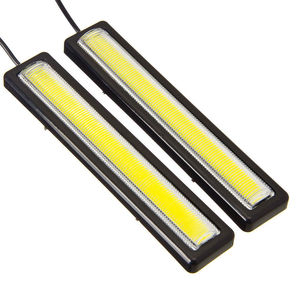 NEW GALAXY Дневные ходовые огни, LED, пласт. корп., 155мм, 12V, белый, 2шт
