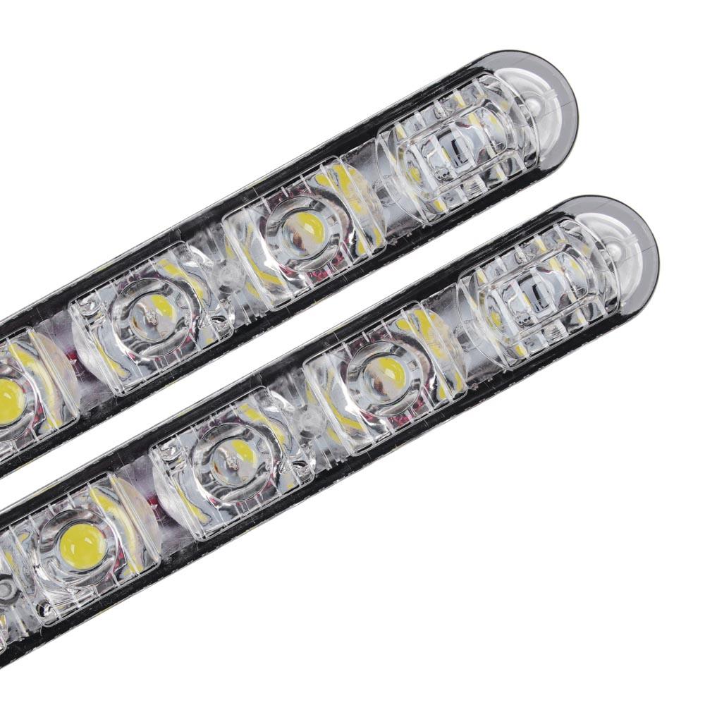 Дневные ходовые огни NEW GALAXY, LED 6шт, Линзы, алюм. корп., 130мм, 12V, 2шт