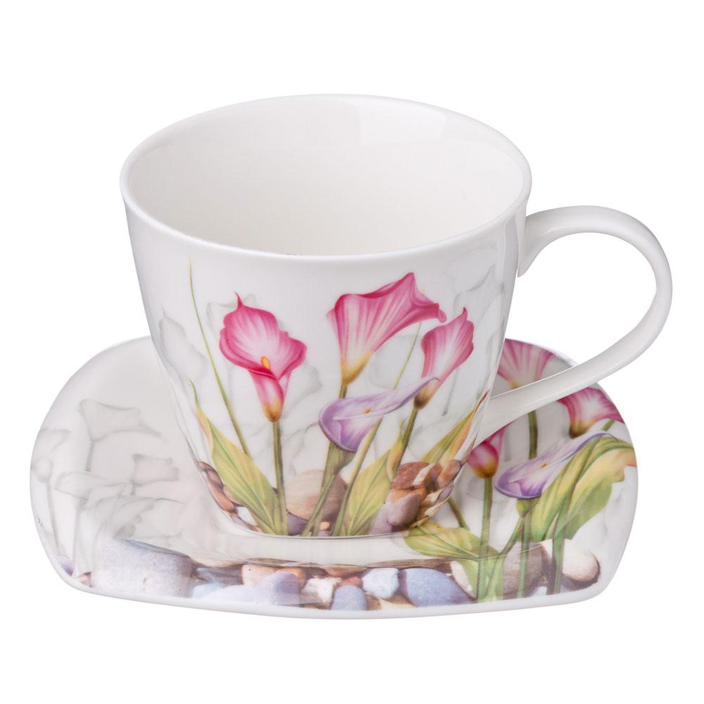 Нежность Набор чайный 12 пр., костяной фарфор, 220мл