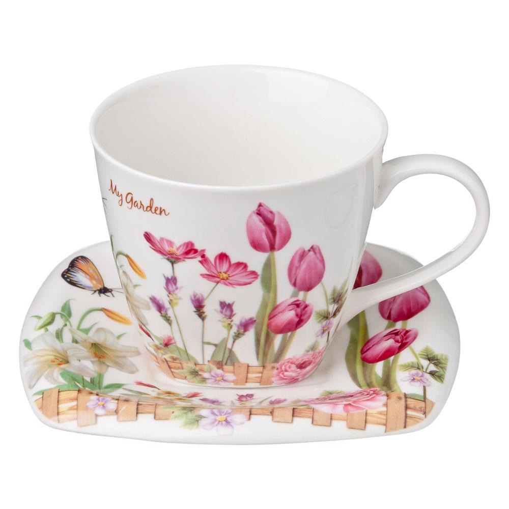 Весеннее настроение Набор чайный 12 пр., костяной фарфор, 220мл