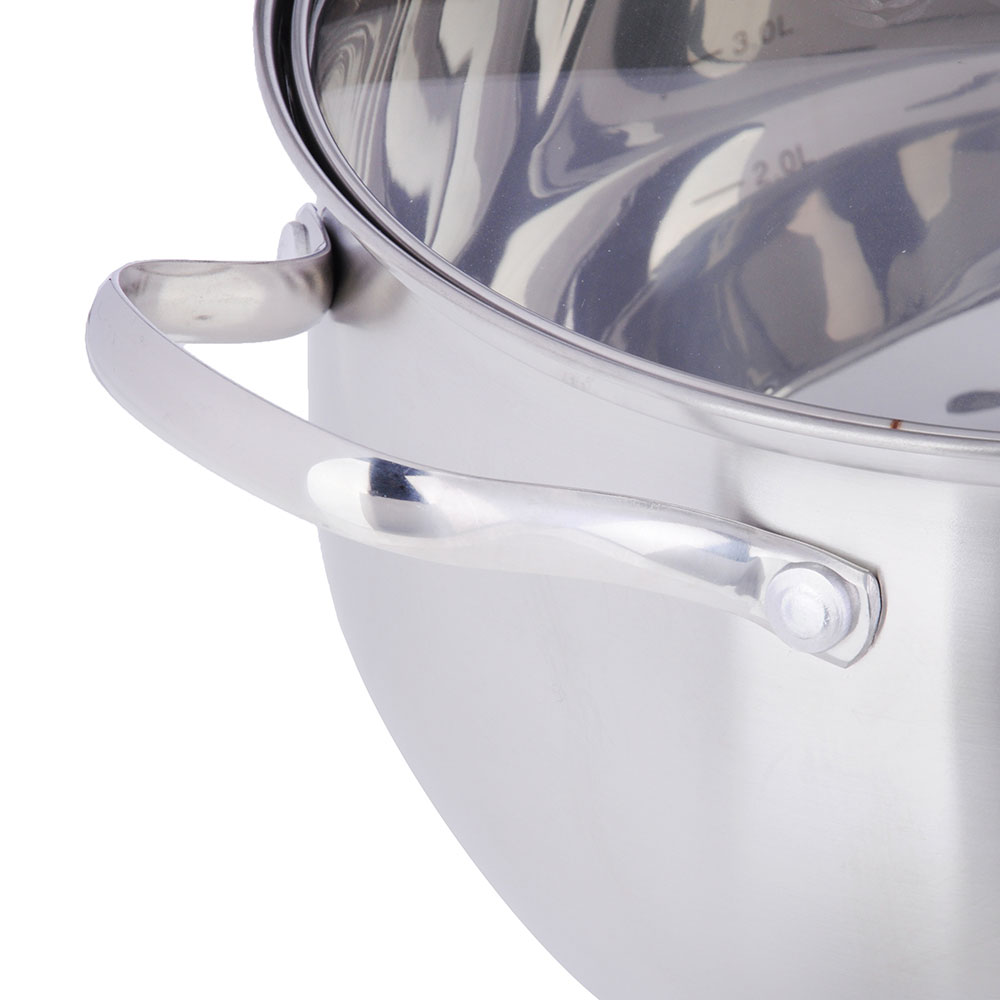 Кастрюля 6,8 л VETTA Женева, со стеклянной крышкой, индукция