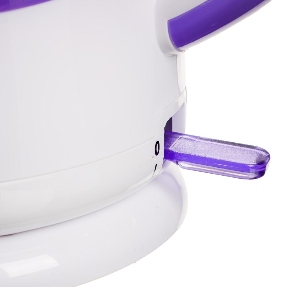 Чайник электрический 2,5 л LEBEN, 1850 Вт, пластик, белый/сиреневый