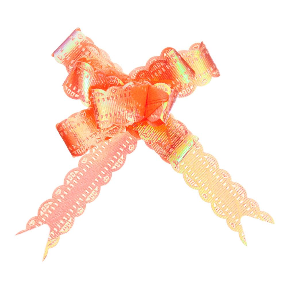 Набор бантов в форме бабочки 3шт, ПЭТ, 1,2х25см, перламутр, 6 цветов