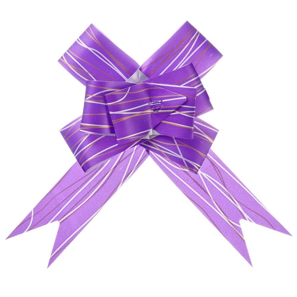 Набор бантов в форме бабочки 3шт, ПЭТ, 3x50см, 5 цветов, арт.020