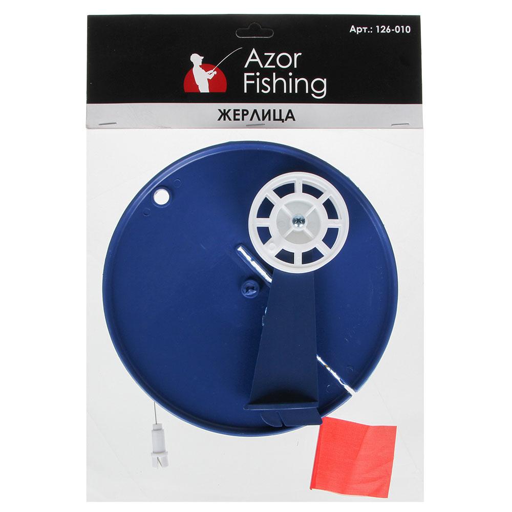 AZOR FISHING Набор для зимней рыбалки жерлица пластик, катушка, флажок