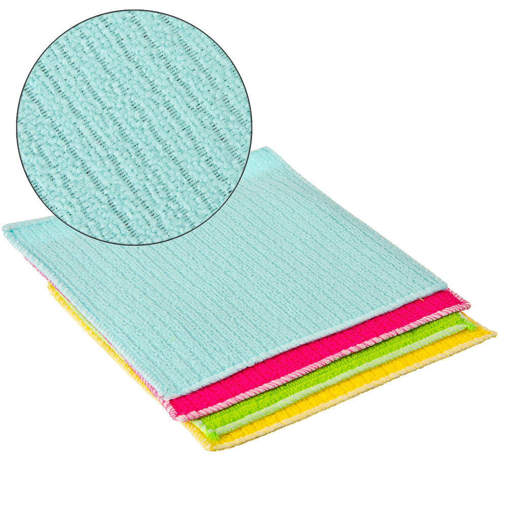 Набор салфеток для керамических плит из микрофибры 2 шт, 20х20 см, VETTA