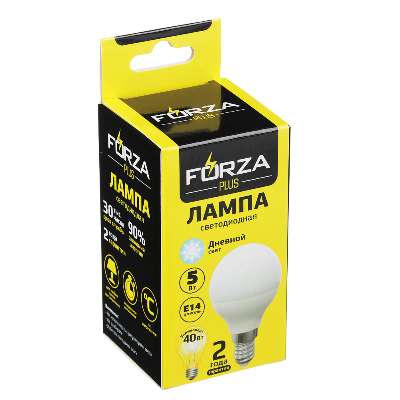 FORZA Лампа светодиодная G45 5W, E14, 400lm 4000К