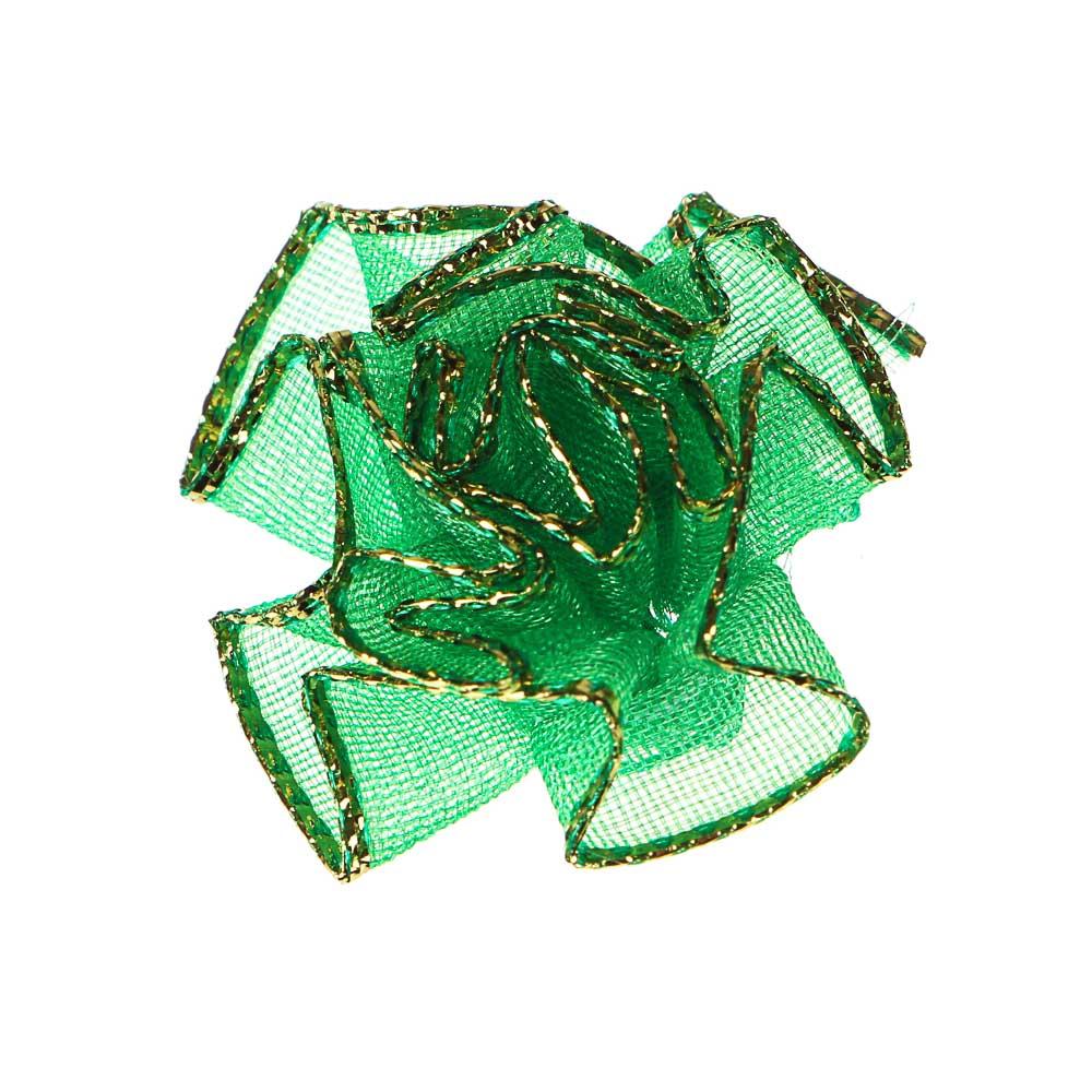 Декор швейный 10шт, полиэстер, пластик, d2,7см, 5 цветов, DEC2016-2