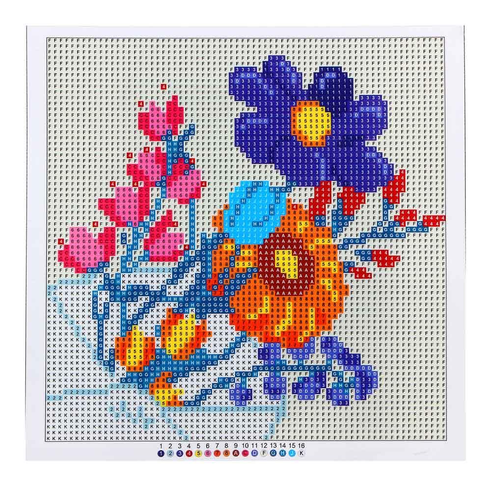 """Картина из страз, 22х22см, полотно, стекло, стик, """"Цветочный карнавал"""", 5 дизайнов"""