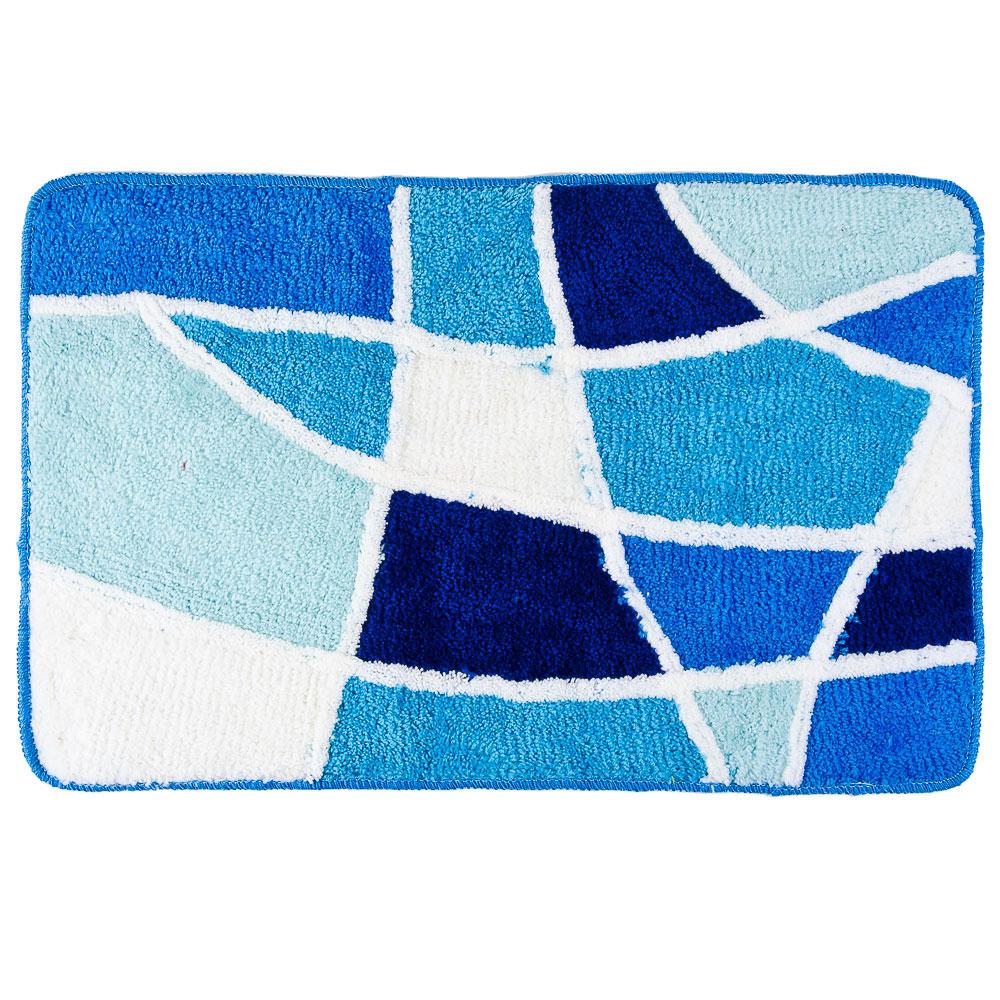 """VETTA Коврик для ванной, акрил, 50x80см, """"Витраж"""", голубой, Дизайн GC"""