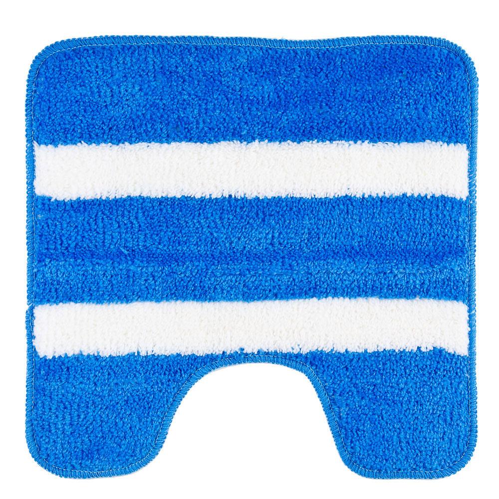 """VETTA Коврик для туалета, акрил, 50x50см, """"Морской-полосатый"""" синий, Дизайн GC"""