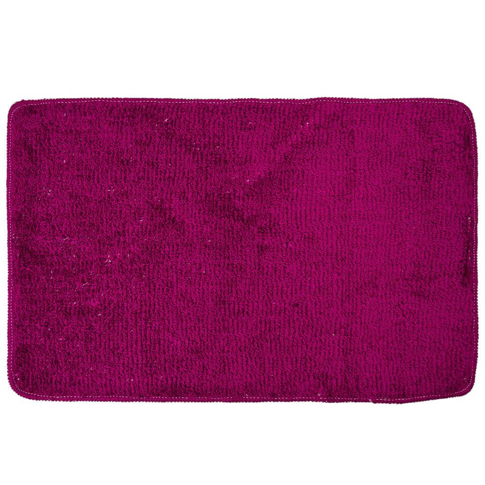 VETTA Коврик для ванной, акриловый ворс 1,2см, 50х80см, однотонный фиолет, Дизайн GC