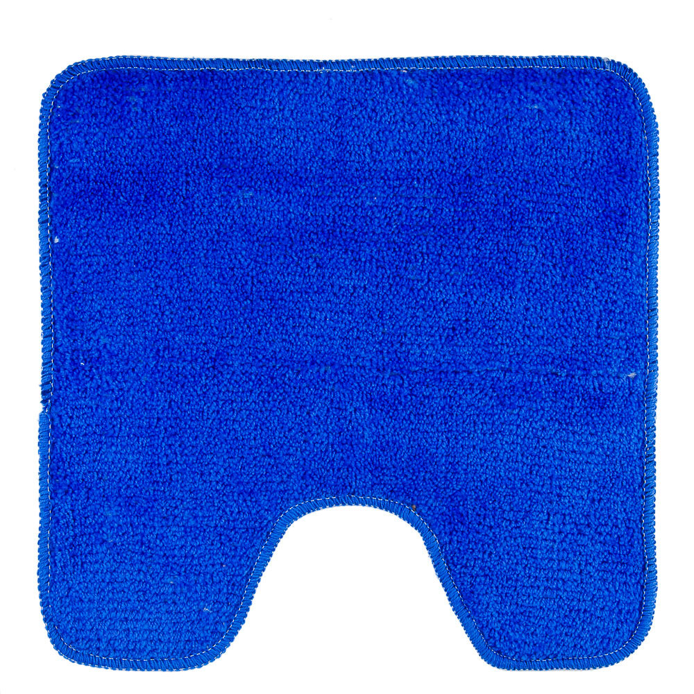 VETTA Коврик для туалета 50x50см, однотонный голубой, Дизайн GC