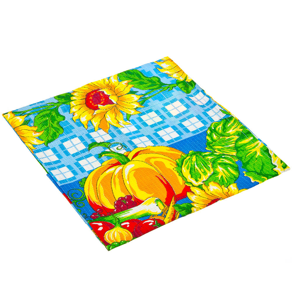 Набор кухонный: полотенце 40x75см, 2 прихватки 18x18см, хлопок