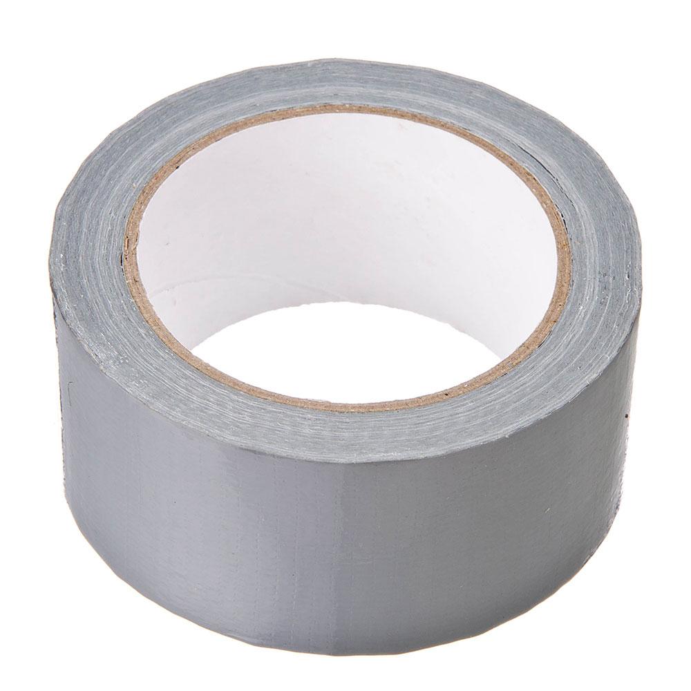 Лента клейкая армированная серебряная 48мм х 25м, инд.упаковка