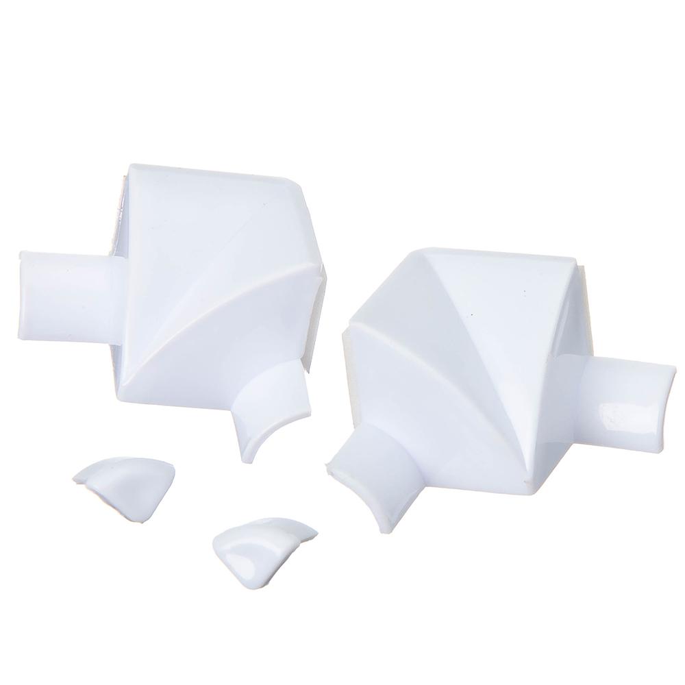 Лента бордюрная самоклеящаяся фигурная белая 38ммх3,35м, полиэтилен +2 уголка и заглушки