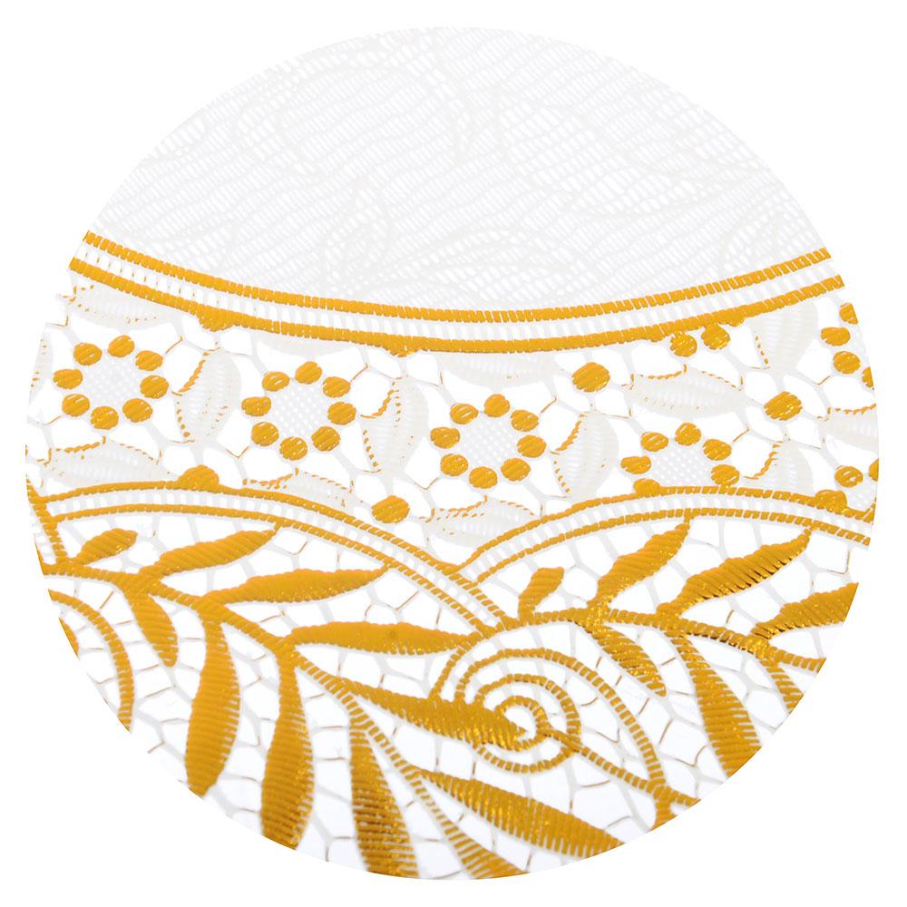 Салфетка ажурная на стол для кухни круглая, 30см