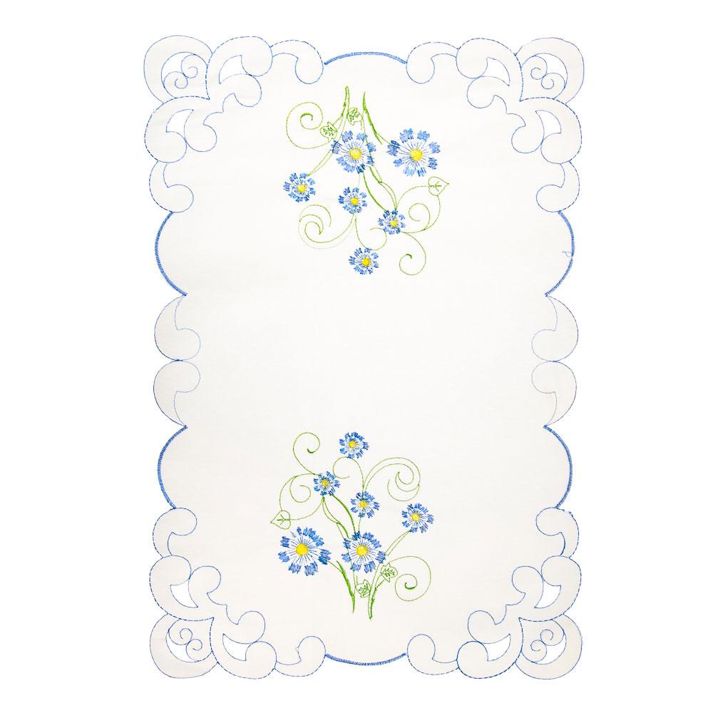 Салфетка декоративная с вышивкой на стол, 30см