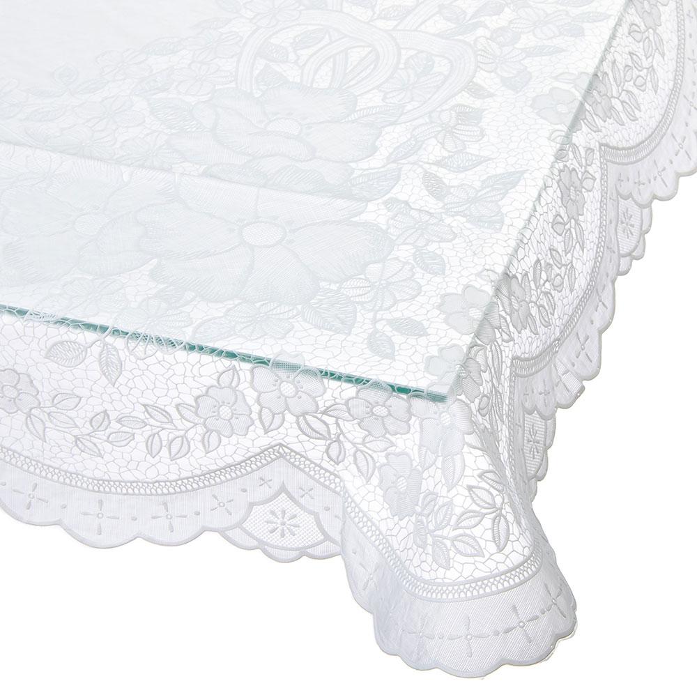 Скатерть на стол ажурная, пвх, 150x228см, VETTA