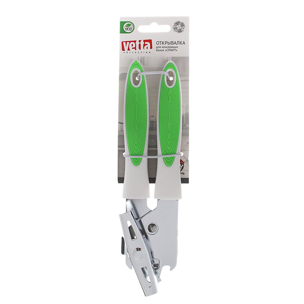 VETTA Открывалка для консервных банок Смарт, 21х4,5х3,7 см, металл, пластик, 2 цв.