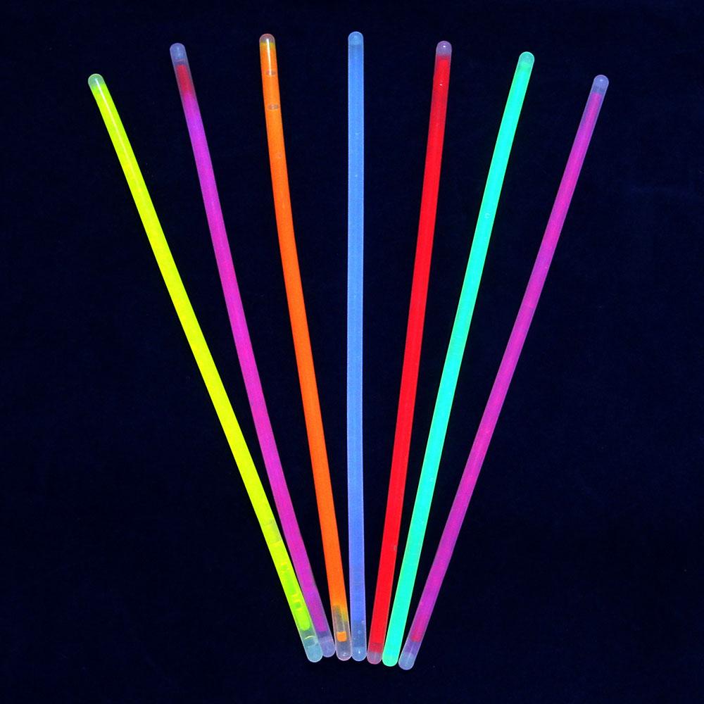 Набор неоновых палочек 10шт, пэ, флуоресцентная краска, d0,5x20см, 7 цветов