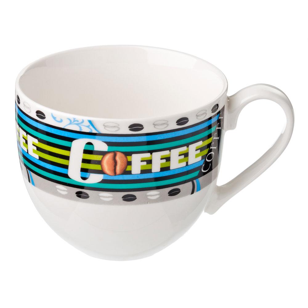 Кружка 450мл, фрф, Кофе-3, 4 диз.