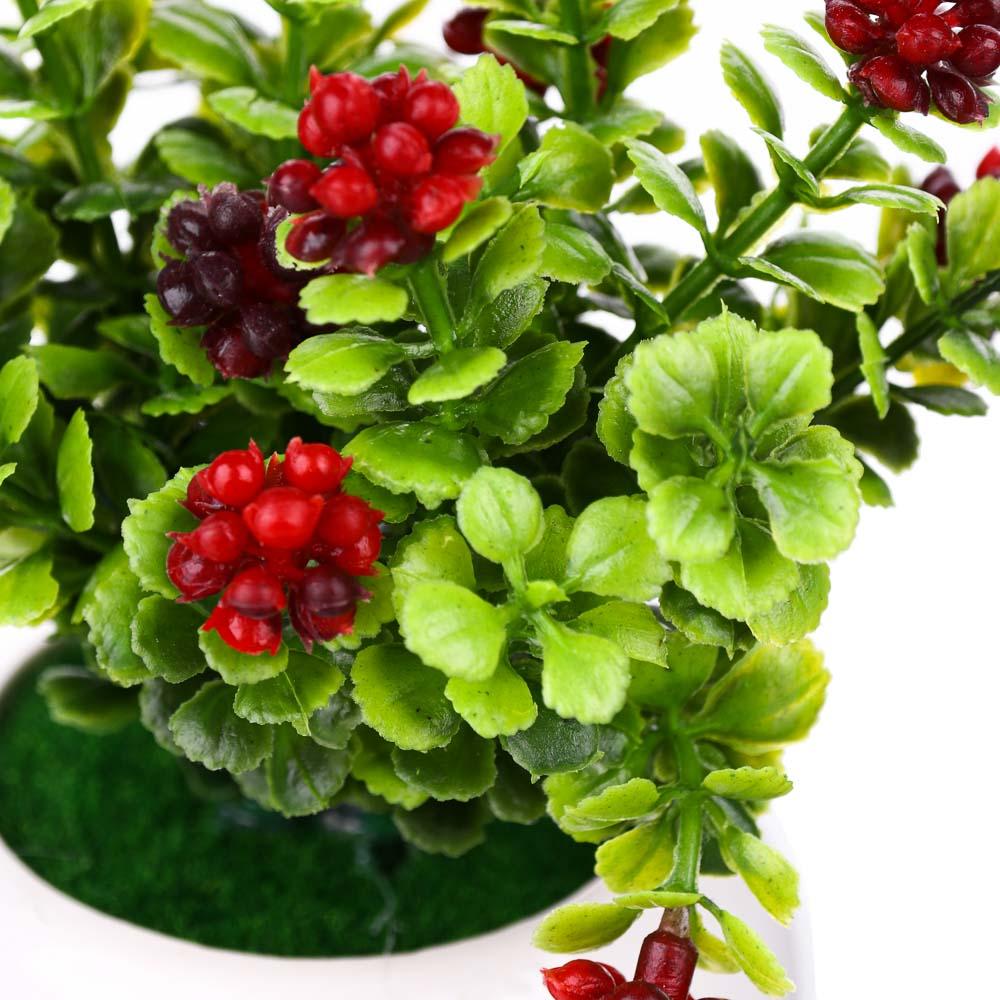 Цветок декоративный в керамическом горшке Цветочная коллекция, пластик, 12х7х7см, 4 цв, 1507-14