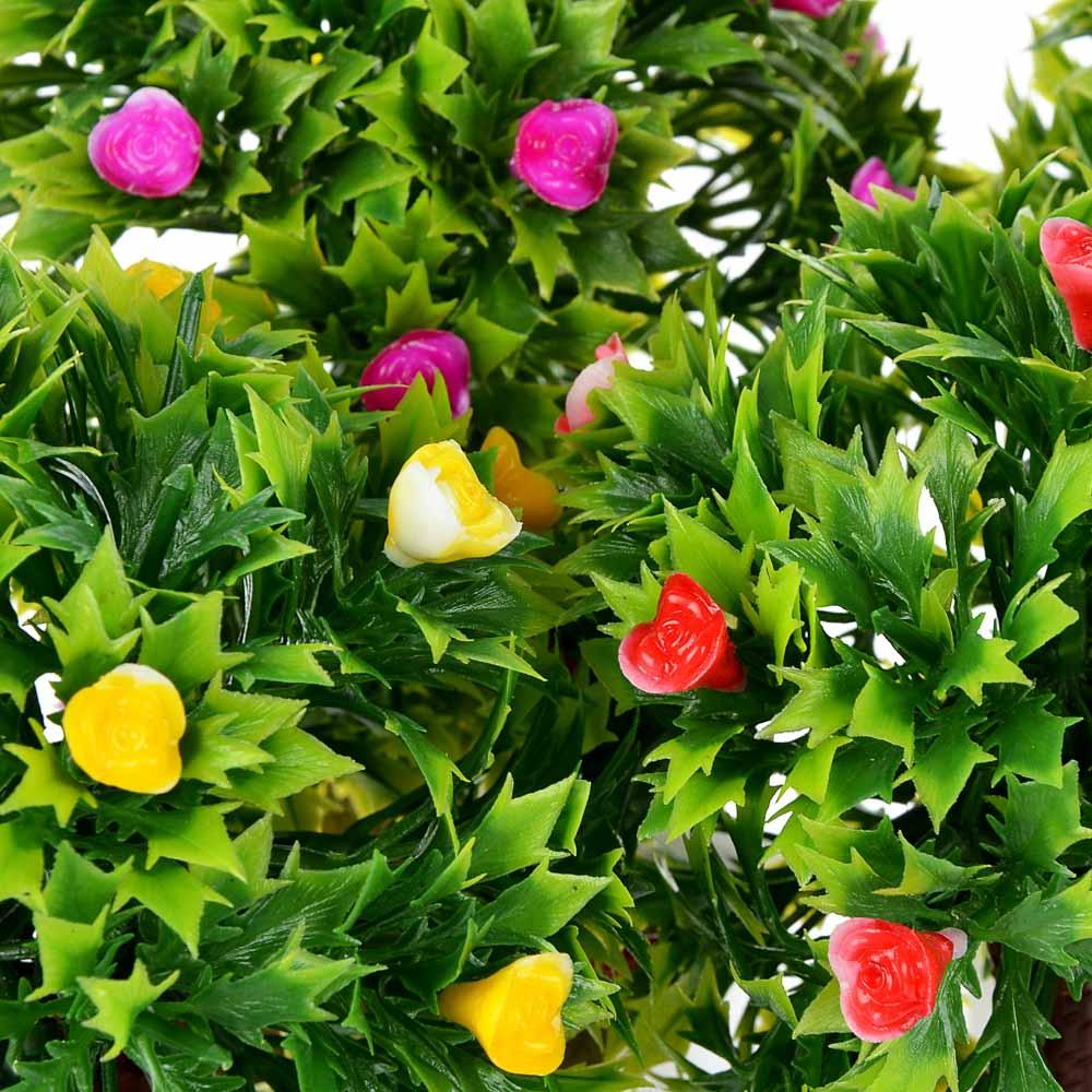 LADECOR Цветок декоративный в горшке Цветочная коллекция, пластик, 18,5х10х10 см, 4 цвета, 1507-17