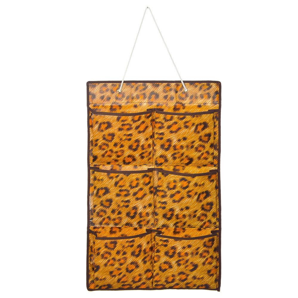 VETTA Подвесная секция для хранения мелочей 6 карманов, леопард, спанбонд влагостойкий, 37x60см