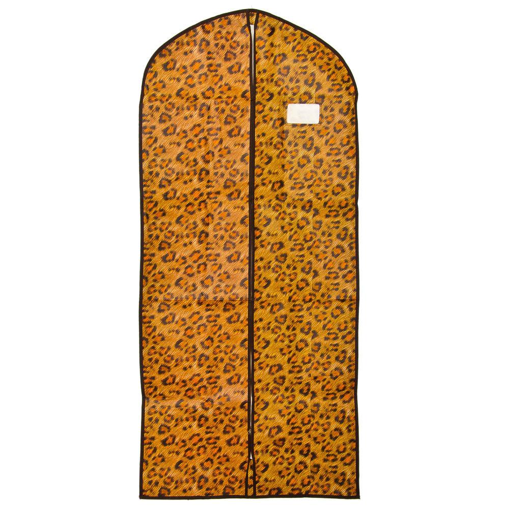 VETTA Чехол для одежды с рисунком леопард, спанбонд, 60x137см