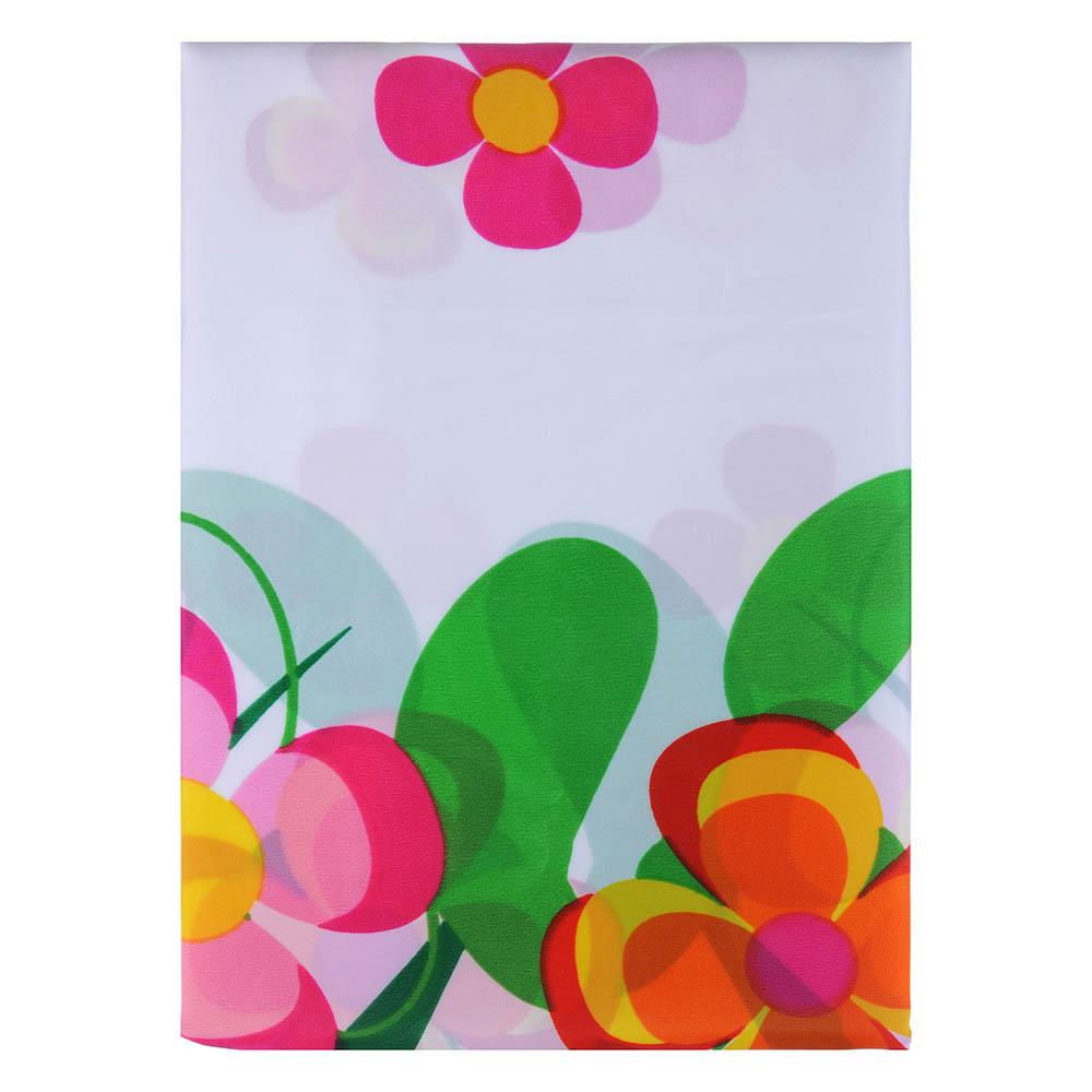 """VETTA Шторка для ванной, ткань полиэстер с утяжелит, 180x180см, """"Зелёная поляна"""", Дизайн GC"""