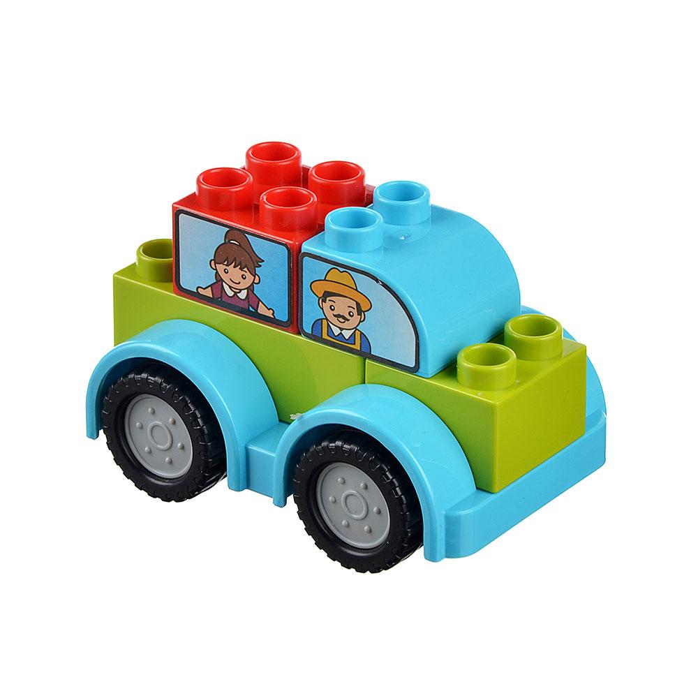 """Конструктор пластик """"Машинка"""" с крупными деталями, 6 дет., 3+, 188-167"""
