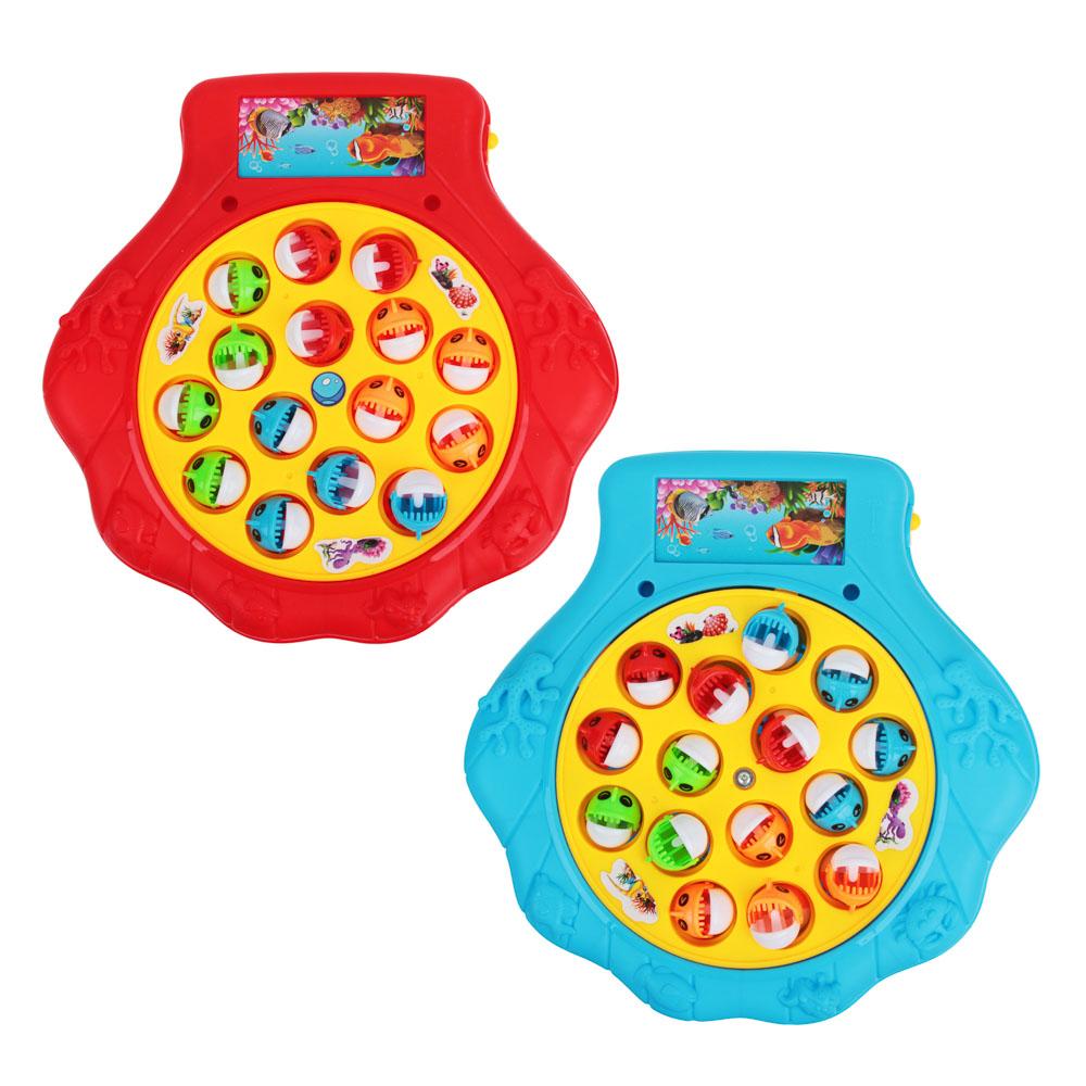 Игрушка-рыбалка на батарейках, пластик, эл.питания 2xAAA, 22х21х4см, 3 цвета, 9981-7A