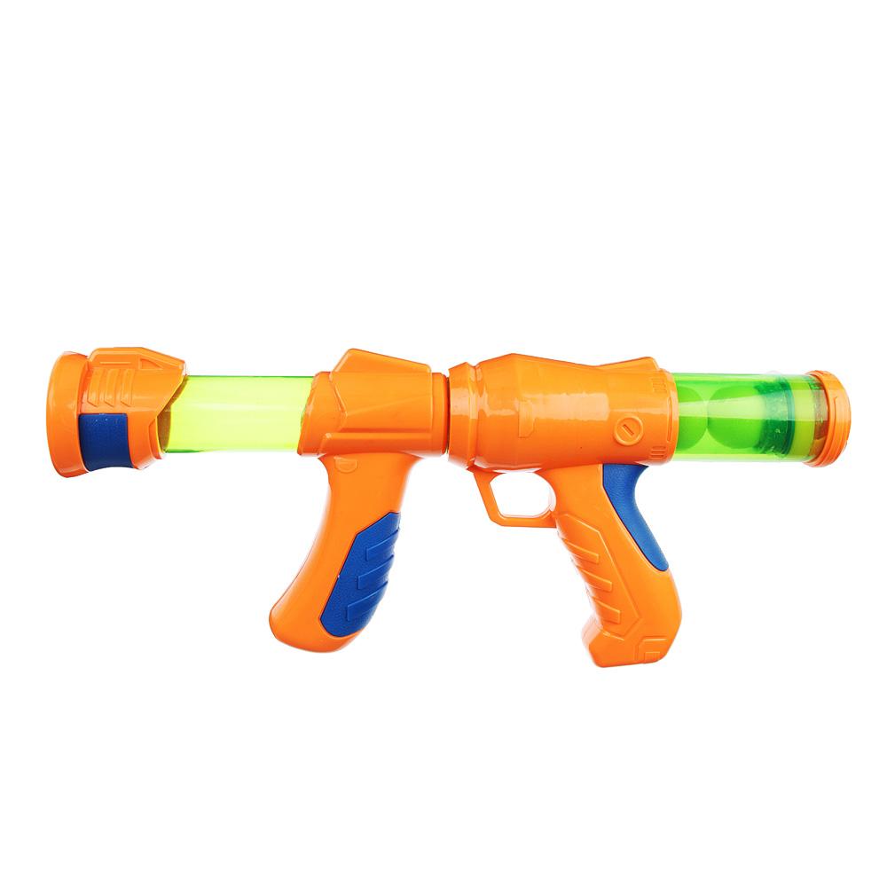 Ружье 34см, 10 мягких шариков, пластик, 40х7х23см