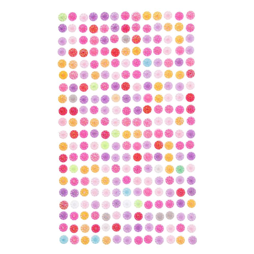 Наклейка Блеск, ПВХ, 22,5х10см, 7-8 цветов, арт.19-07-09
