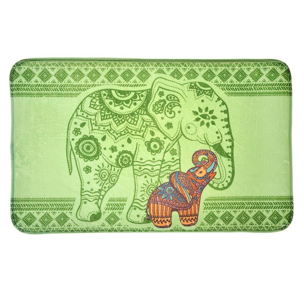 """VETTA Набор ковриков 2шт для ванной и туалета микрофибра,1,2см,50х80см+50x40см,""""Слоны"""",Дизайн GC"""